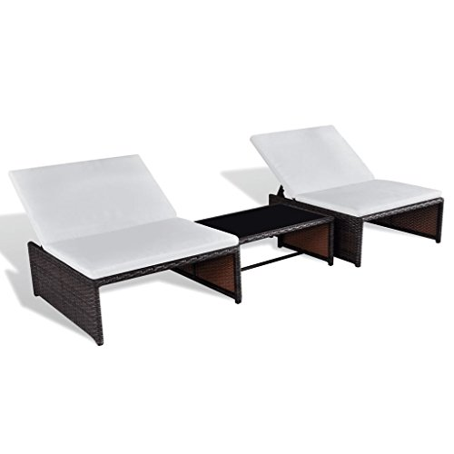 Modulares Sofa Set (Festnight Polyrattan Lounge Set Zweisitzer Loungemöbel Loungeset Braun)