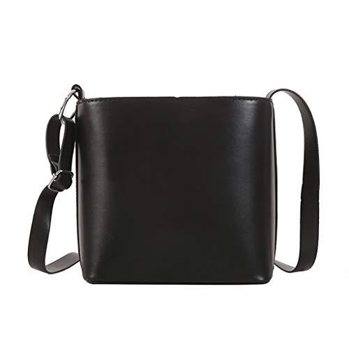 Mitlfuny handbemalte Ledertasche, Schultertasche, Geschenk, Handgefertigte Tasche,Frauen Wild Bucket Bag Retro Sen Einfache Schulter Messenger Bag