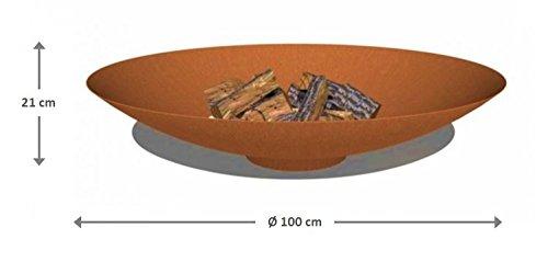 Brasero acier Corten Acier Ø 100 cm