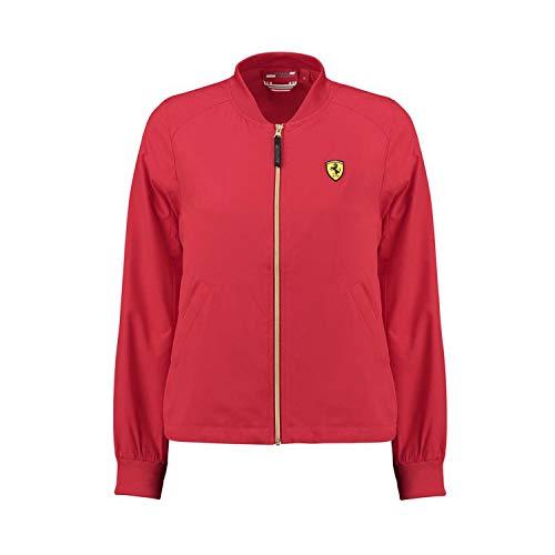 Ferrari 2018 Scuderia Damen Bomberjacke mit Reißverschluss, Größen XXS-XL, rot, (M) UK 12 / EU 40 / US 10