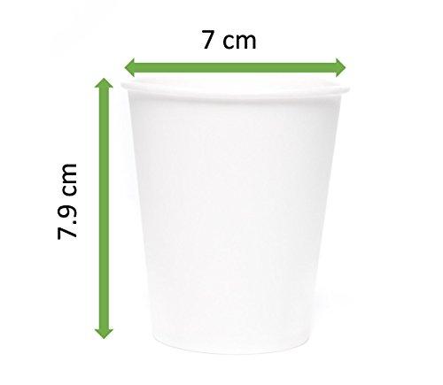 comprare on line MGGI Trading 100pz Bicchiere di Carta per Bevande Calde Bianco 7 OZ - 180 ml - 100pcs 7oz Paper Cups for Hot and Cold Drinks prezzo