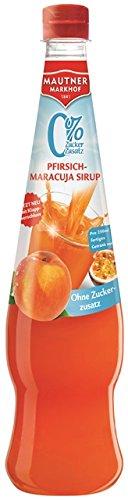 Mautner Markhof Pfirsich-Maracuja 0% Zucker Sirup (Sekt Mit Fruchtsaft)