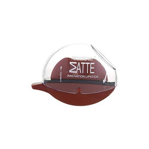 Red Glossy Lip Care (Precioul 6 Farben Lazy Lip Lippenstift Red Lippenstift in klassischem Rot für jeden Teint - Langanhaltender, feuchtigkeitsspendender, roter Lippenstift mit starker)