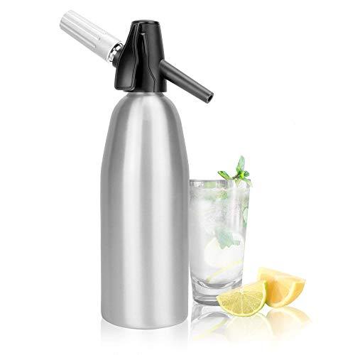 Sifón de soda de aluminio 1L   Fizz Maker   Máquina de refrescos   Seltzer Water Creator   Dispensador de agua carbonatada   M&W