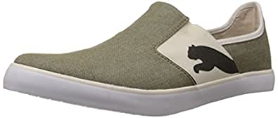 Puma Men's Lazy Slip On Ind Burnt Olive-Whisper White Mesh Running Shoes - 11 UK /India(46EU)