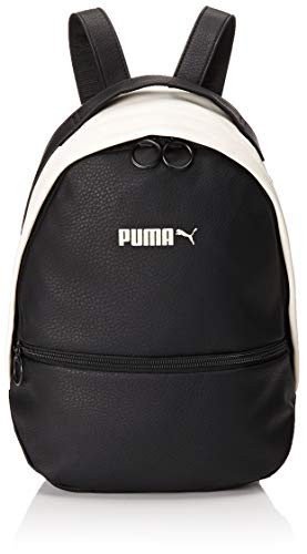 PUMA Damen Prime Classics Archive Backpack Rucksack, Black-Whisper White, OSFA (Rucksack Suede Black)