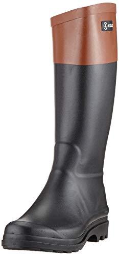 Aigle Damen Aiglentine Gummistiefel, Schwarz (Noir/Ambre 001), 37 EU