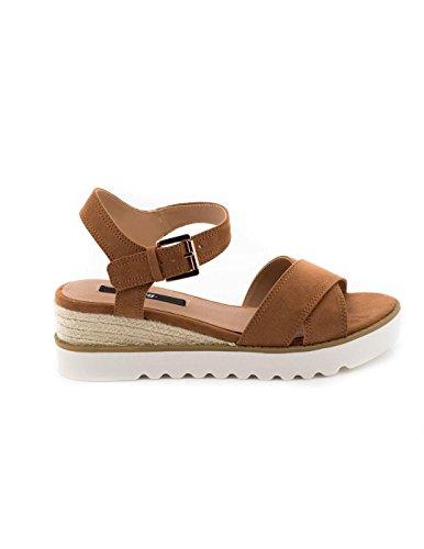 MTNG Collection Donna Rosa Sandali con cinturino alla caviglia marrone Size: 36 EU