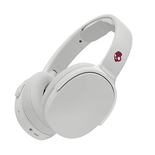 Skullcandy Hesh 3 Bluetooth Wireless Over-Ear Headphones with Microphone, Rapid Charge 22-Hour Battery, Foldable, Memory Foam Ear Cushions for Comfortable All-Day Fit, White/Crimson Best Price and Cheapest