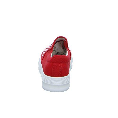 R´s 6082-Y Damen Leinen Slipper/Kletthalbschuh Rot (Rot)