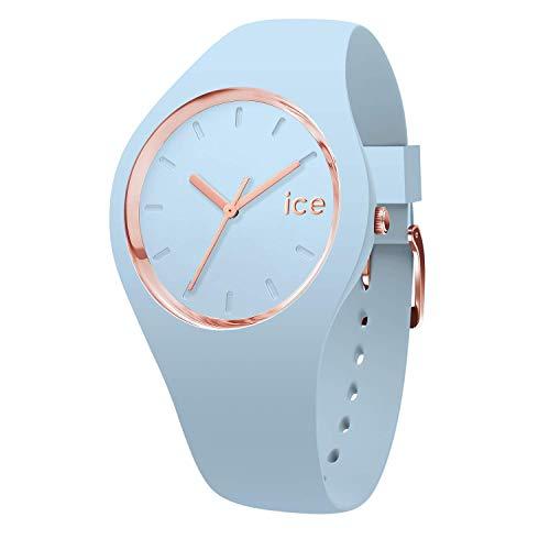 Ice-Watch - Ice Glam Pastel Lotus - Blaue Damenuhr mit Silikonarmband - 001063 (Small)