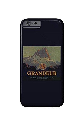 Grandeur Brand - Orange, California - Citrus Crate Label (iPhone 6 Cell Phone Case, Slim Barely There) -
