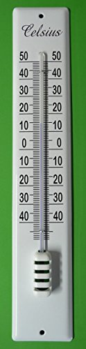 """Emaille Email Thermometer Hauswandthermometer 40 cm \""""Celsius\"""""""