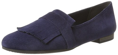 Tamaris Damen 24200 Slipper, Blau (Navy), 40 EU (Navy Leder-loafer)