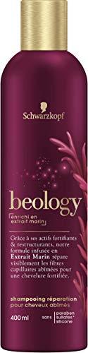 Schwarzkopf beology Repair-Shampoo, für geschädigtes Haar, mit Tiefsee-Extrakt, 3er Pack (3 x 400 ml)