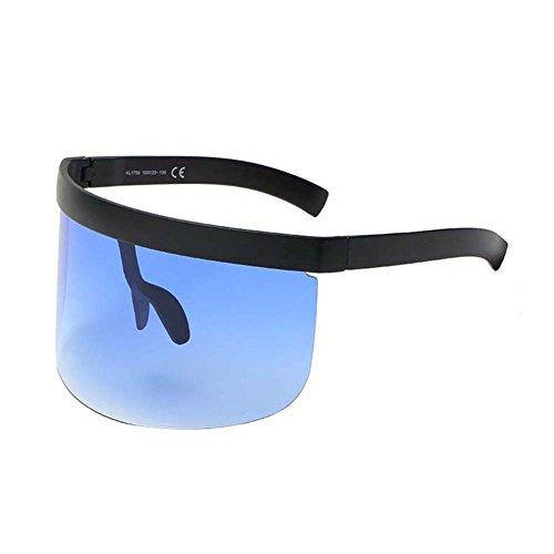 UGUAX Herren Frauen Funky Sonnenbrille Extra Oversize Visier Shield Maske Elegant verschnörkelte Gläser, Color-8
