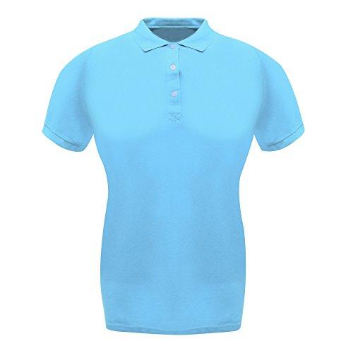 Womens Classic Cotton Polo - Farbe: Blue Skies - Größe: 44 (18) (Blue Polo Ladies Classic)