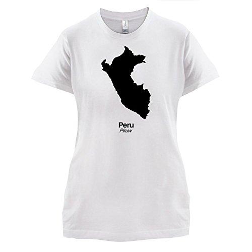 Peru / Republik Peru Silhouette - Damen T-Shirt - 14 Farben Weiß