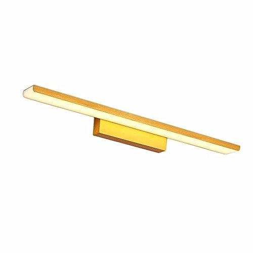 SJUN 16W/24W/32W Smd 3014 Led Wand Befestigung Hellen Badezimmer Spiegel Vordere Lampe Draht Zeichnung Waschraum Schlafzimmer,Gold/24W 61Cm/Warm White (32w-befestigung)