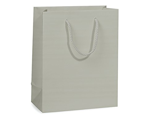 SILVER MATTE Gift Bags CUBBULK 8x4x10 1 unit, per unit. by Nas (Metallic-print Tote)