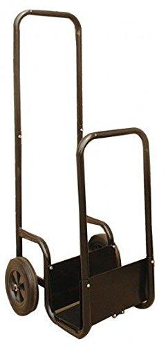 Holzwagen, Transportwagen, Transportkarre, Gartenkarre für Kaminholz mit Metallplatte