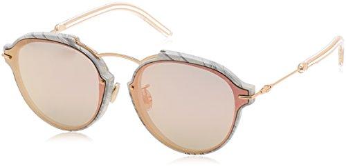 Christian Dior Damen Sonnenbrille Dioreclat 0J Gold (Whtemrble Gd), 60
