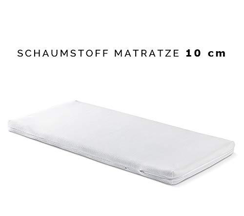 10 cm Höhe Kindermatratze 60x120 Schaumstoff Raumgewicht 19 kg/m3, Babymatratze, Bezug waschbar teilbar, Matratze für Kinder (60 x 120 cm)