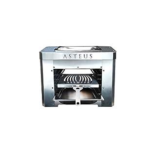 Asteus 4260293725394 Steaker V2-Elektro Infrarotgrill, Silber, 45 x 25 x 34 cm