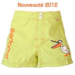 PIWAPEE - Maillot de bain couche short pelican vert anis 8-11kg