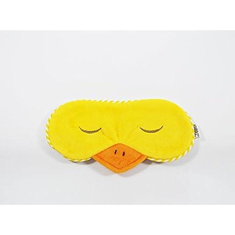 Eye Mask Blindfold tonalità Sacco a pelo caldo freddo Gel da viaggio Comodo Della Notte Bestever (duck-yellow)