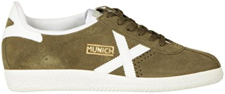 Munich Scarpe Unisex scarpe da ginnastica BARRU verde verde verde Army Bianco Pelle Scamosciata U18MU13 | finitura  | Uomini/Donna Scarpa  22ccc7
