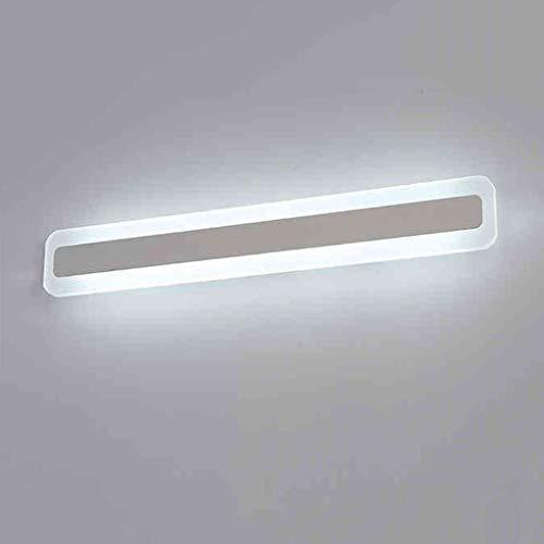 BAIF Badezimmerspiegel beleuchtet einfaches modernes Spiegel-vorderes Ligh, LED-Badezimmer-Badezimmer-Wand Lamp Spiegel Lampe Make-up Lampe wasserdicht Anti-Fog (Farbe: Weißlicht-40cm) - Beleuchtete Make-up-spiegel Wand