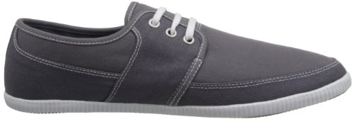 Fred Perry Tonic Canvas GRAU B4185168 Grau - Gris et blanc