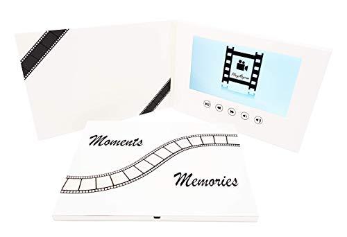 PlayMegram Video-Grußkarte mit 7 Zoll großes LCD-Farbdisplay und USB-Anschluss, Für Videonachrichten, Diashows, Videoprojekte, Urlaubsvideos, Abschiedskarte, kreative Geschenkidee