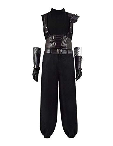 IDEALcos Halloween Cloud Cosplay Kostüm Final Fantasy VII Remake (3XL, Schwarz)