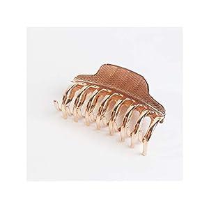 Mädchen Einfache Legierung greifen Clip große erwachsene Bad Shark Clip Haarspangen Haarschmuck (Rose Gold) Kopfbedeckungen