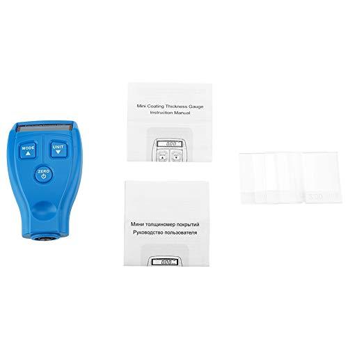 Schichtdickenmessgerät, GM200A LCD Digitales Autolack-Schichtdickenmessgerät Tester Sonde Elektrisches Schichtdickenmessgerät
