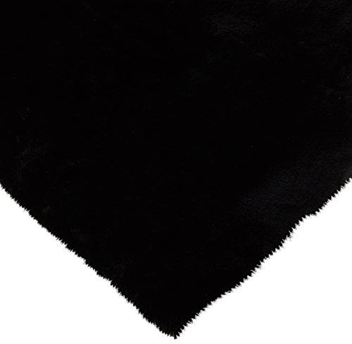 CRS Fur Fabrics Super Luxe Fausse Fourrure Tissu Matériau - en Peluche Super Doux Noir