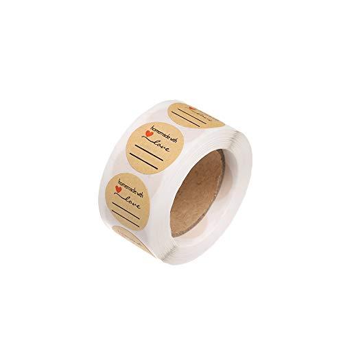 Kitcheblest 500pcs/1 Roll decoración Boda Hecha Mano