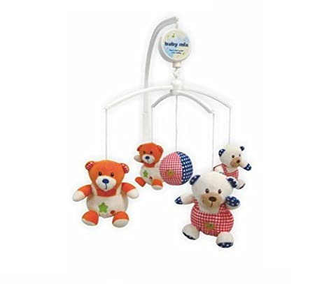 Nursery Rotating Cot / Crib Mobile Toy with Soothing Musical Lullaby Sounds Play - (Big Teddies)