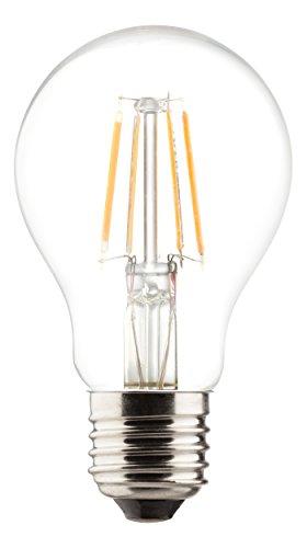 MÜLLER-LICHT 400176 A++, Retro-LED Lampe Birnenform ersetzt 60 W, Glas, 6 W, E27, weiß, 6 x 6 x 10,6 cm [Energieklasse A++]