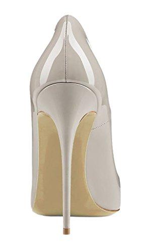 EDEFS Scarpe con Tacco Donna,Classico Scarpe con Tacco e Punta Chiusa Donna Grigio