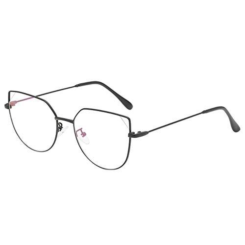 Laile Gläser Retro Brille Student Lehrer Damen Herren Slim-Brille ohne stärke Nerdbrille Linsen Brillenfassung clear lens Dekobrillen fashion Streberbrille Transparente Lesebrille - Box-metall-rechteckig Kollektion