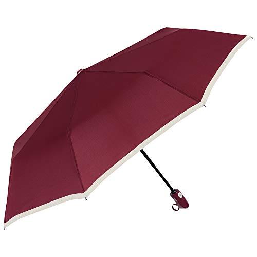 PERLETTI Paraguas Mujer Plegable Portátil Compacto