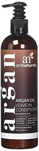 Art Naturals L'Huile d'argan Laisser en revitalisant - (2 oz liq/354ml)-Cheveux Crème Aloe Vera et Vitamine E