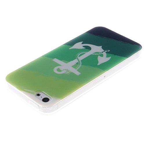 iPhone SE Coque, MOONCASE iPhone 5S Cover Case Fit Soft Silicone Housse avec Coque de Protection en TPU Etui pour iPhone SE / 5S / 5 - DD10 Série Colore - DD16