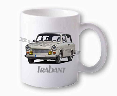 BuyPics4U Fototasse weiß Trabant 601 Universal Kombi weiß vorn