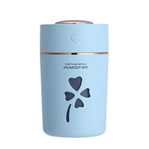 Lucky Grass Cool Mist Mini-Luftbefeuchter, rosa tragbarer Nebel-Luftbefeuchter, automatische Abschaltung, für Zuhause, Yoga, Büro, Spa, Schlafzimmer, Babys, großes Zimmer mit LED-Nachtlicht blau - Rosa Grass
