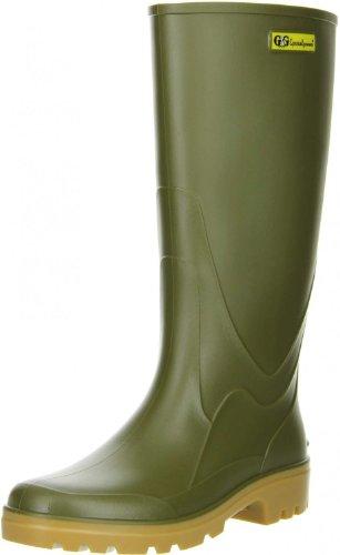 G&G Damen Herren Gummistiefel Nitrilgummi Brandsohle oliv, Größe:43;Farbe:Grün