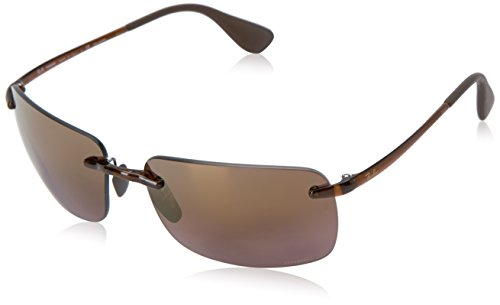 Rayban Herren Sonnenbrille 4255 Shiny Brown/Brownmirrorgold, 60